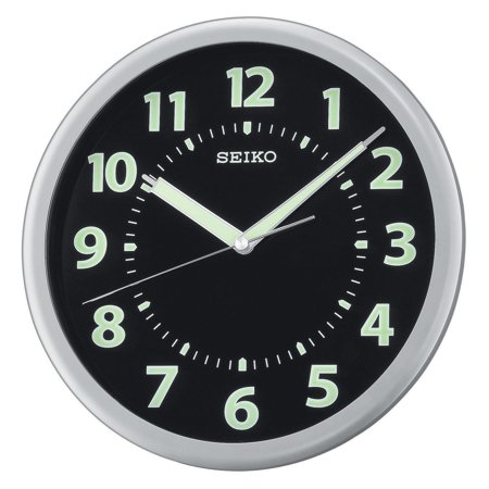 Seiko Glow in the Dark QXA435SLH 10.25-in. Wall Clock