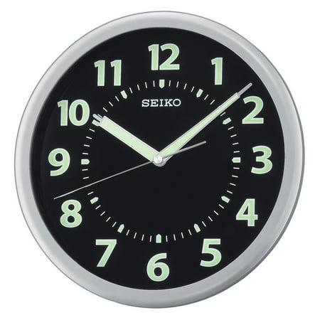 Seiko Glow in the Dark QXA435SLH 10.25-in. Wall Clock