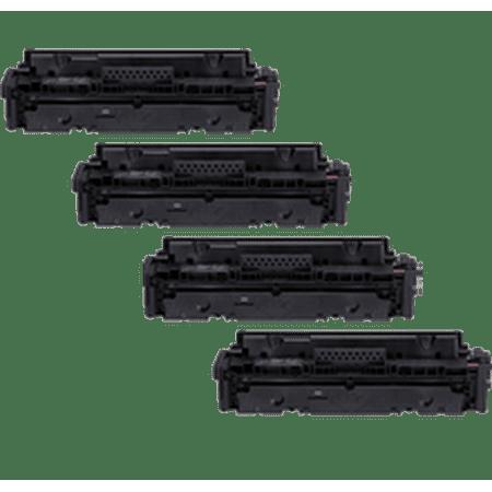Zoomtoner Compatible HP 414A Set (414A) Laser Toner Cartridge Set Black Cyan Magenta Yellow - No Chip - for HP LaserJet Pro M454dn - image 1 of 1