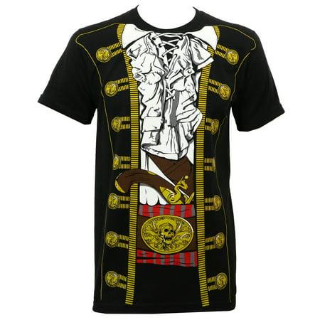 Impact Original Men's Pirate Prince Costume T-Shirt Black