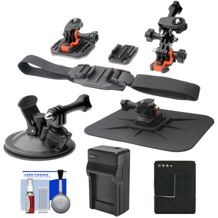 Take Offer Essentials Bundle for GoPro HD HERO 3 Action Camcorder with Helmet, Flat Surface & Car Mounts + Battery + Charger + Accessory Kit Before Too Late