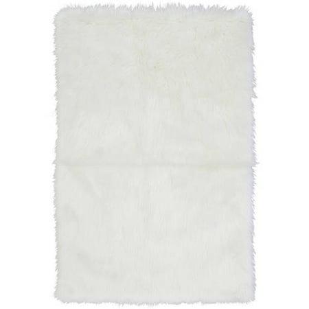 home white shag product round rug sheepskin area x faux garden fur free