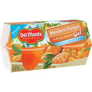 Del Monte Lite Mandarin Orange in Orange Gel, 4.5 oz, 4 count