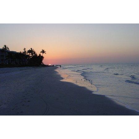 Glow Sand (Laminated Poster Glow Beach Sand Coast Florida Sunrise Poster Print 24 x)