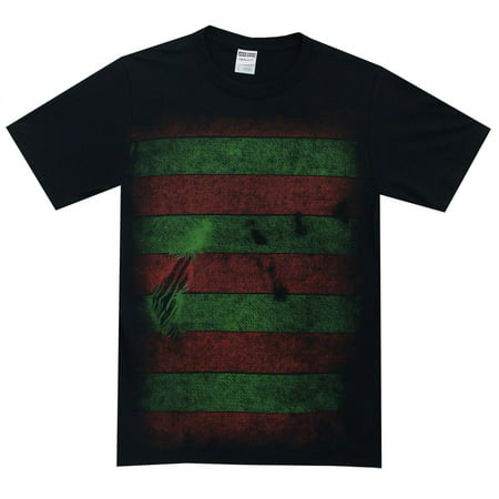 Nightmare on Elm Street Freddy Kreuger Costume Reversible Mask Adult T-Shirt Tee, XX-Large (A Nightmare On Elm Street Costume)