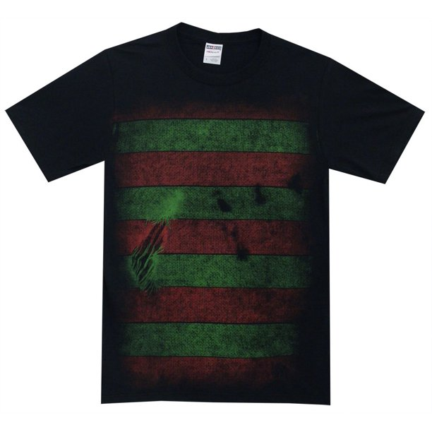 Nightmare on Elm Street Freddy Kreuger Costume Reversible Mask Adult T-Shirt Tee, XX-Large