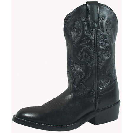 Smoky Mountain Kid's Denver Black Leather Western Boots (Smoky Mountain Boots Mens Denver Leather Western Boot)
