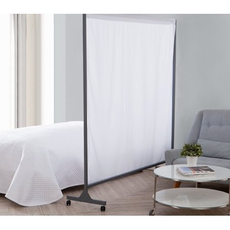 Don't Look At Me - Privacy Room Divider - Gray Frame with White - Cardboard Room Divider