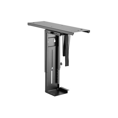 Monoprice Computer Case CPU Tower Holder, Adjustable Under Desk Mount with Rotating and Sliding Mechanism