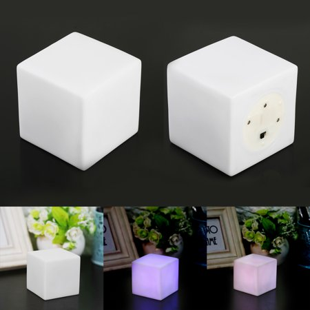 EECOO Mood Night Light,,LED Color Changing Mood Cube Night Light Table Lamp Gadget Home Party Decoration - Halloween Decorations For Office Cube