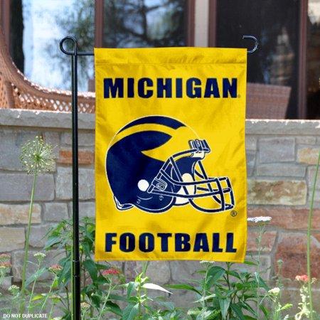 """michigan wolverines football helmet 13"""" x 18"""" college garden flag"""