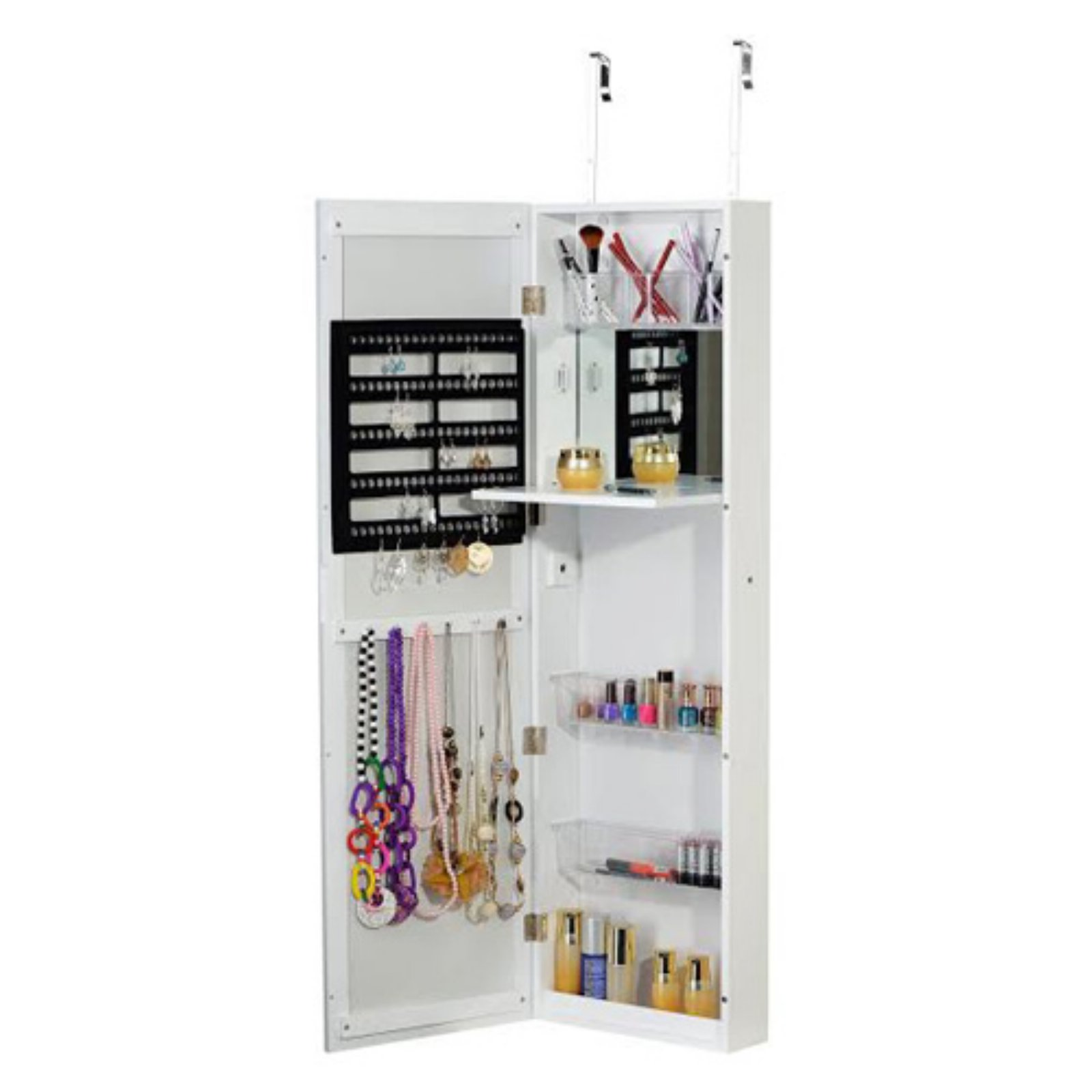 BTExpert Over the Door Jewelry Armoire and Cosmetic Organizer