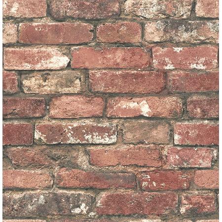 - Brewster Loft Red Brick Wallpaper Sample