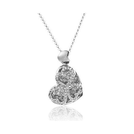 Novadab Platinum Angled Heart