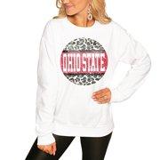 Ohio State Buckeyes Women's Scoop & Score Pullover Sweatshirt - White