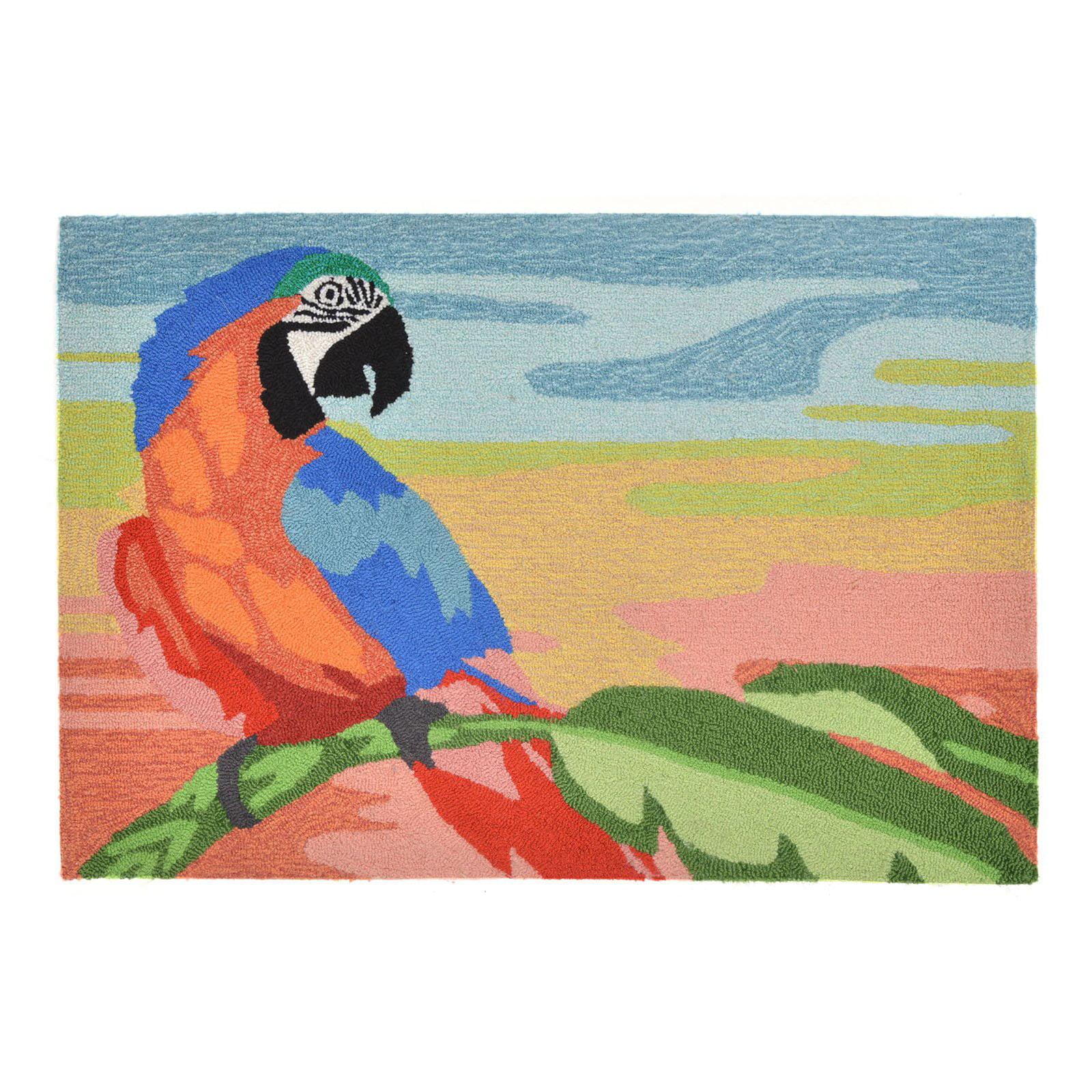 Liora Manne Frontporch 1578 27 Macaw Sunset Indoor   Outdoor Doormat by Lolita Jewelry