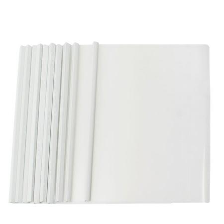 Unique Bargains Unique Bargains Gray Plastic Sliding Bar Office A4 Size File Folder Organizer 10 Pieces