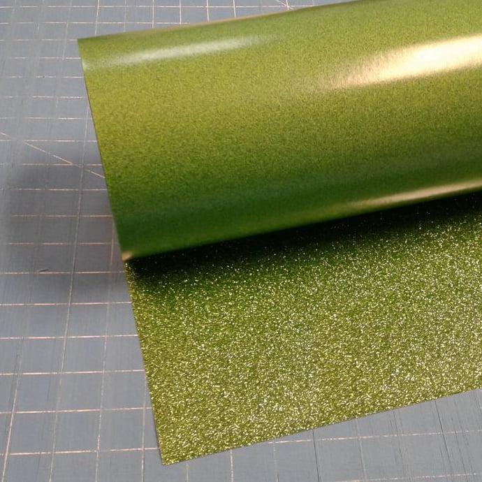 "Light Green Glitterflex Ultra 19.5"" x 3' Roll Glitter, Heat Transfer Vinyl, HTV"