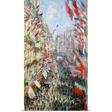 Great Big Canvas Poster Print Entitled The Rue Montorgueil  Paris  Celebration Of June 30  1878  Oil On Canvas