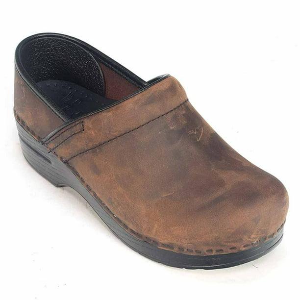 Dansko - Professional Antique Brown Oiled Leather Men's Clogs 206-780202  Size 43 - Walmart.com - Walmart.com