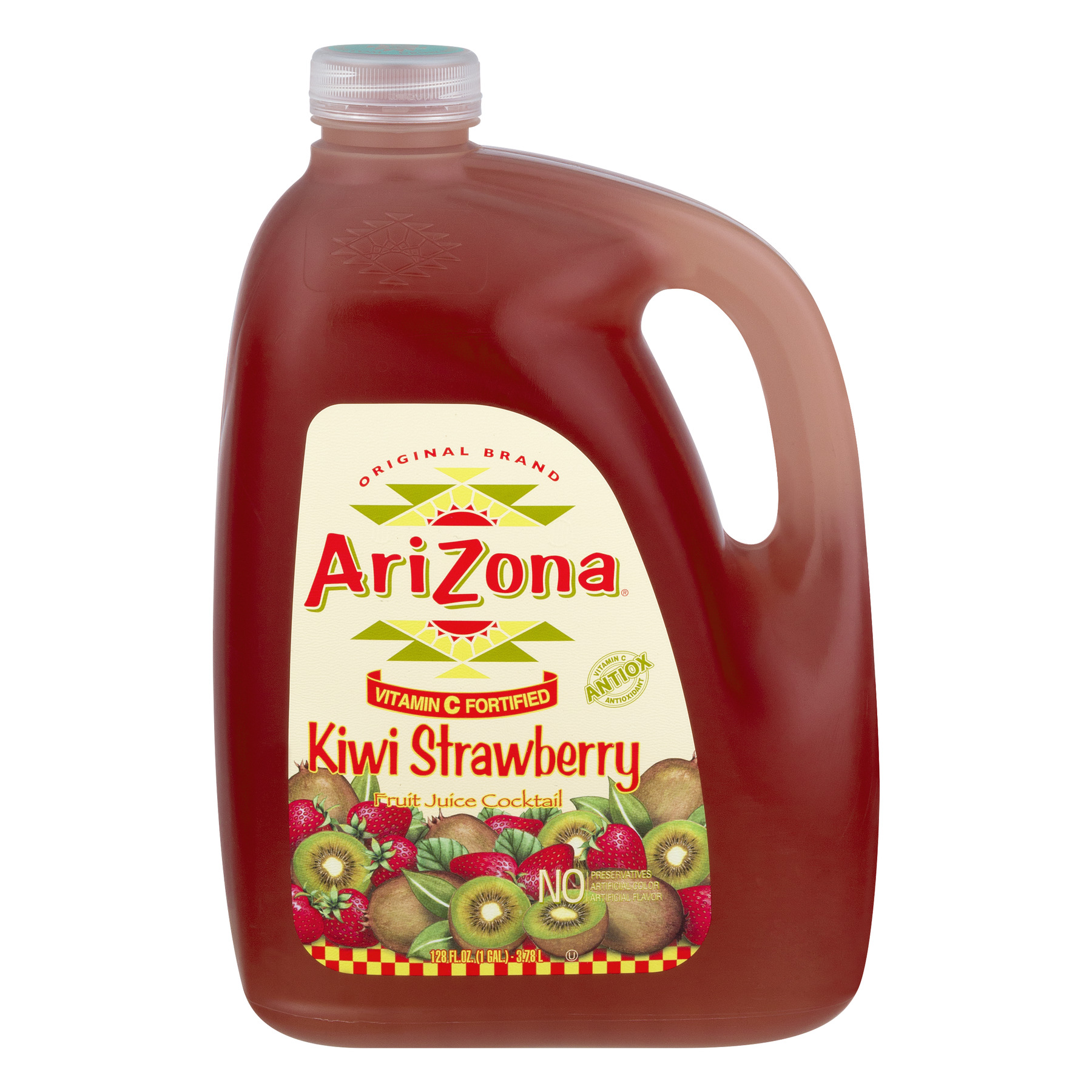 Arizona Juice Cocktail, Kiwi Strawberry, 128 Fl Oz, 1 Count