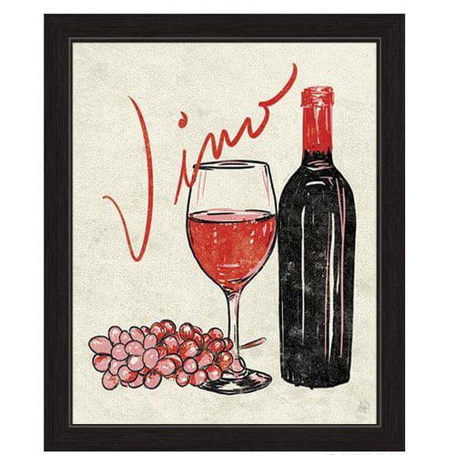 Click Wall Artwork Vino Framed Painting Print by Click Wall Art