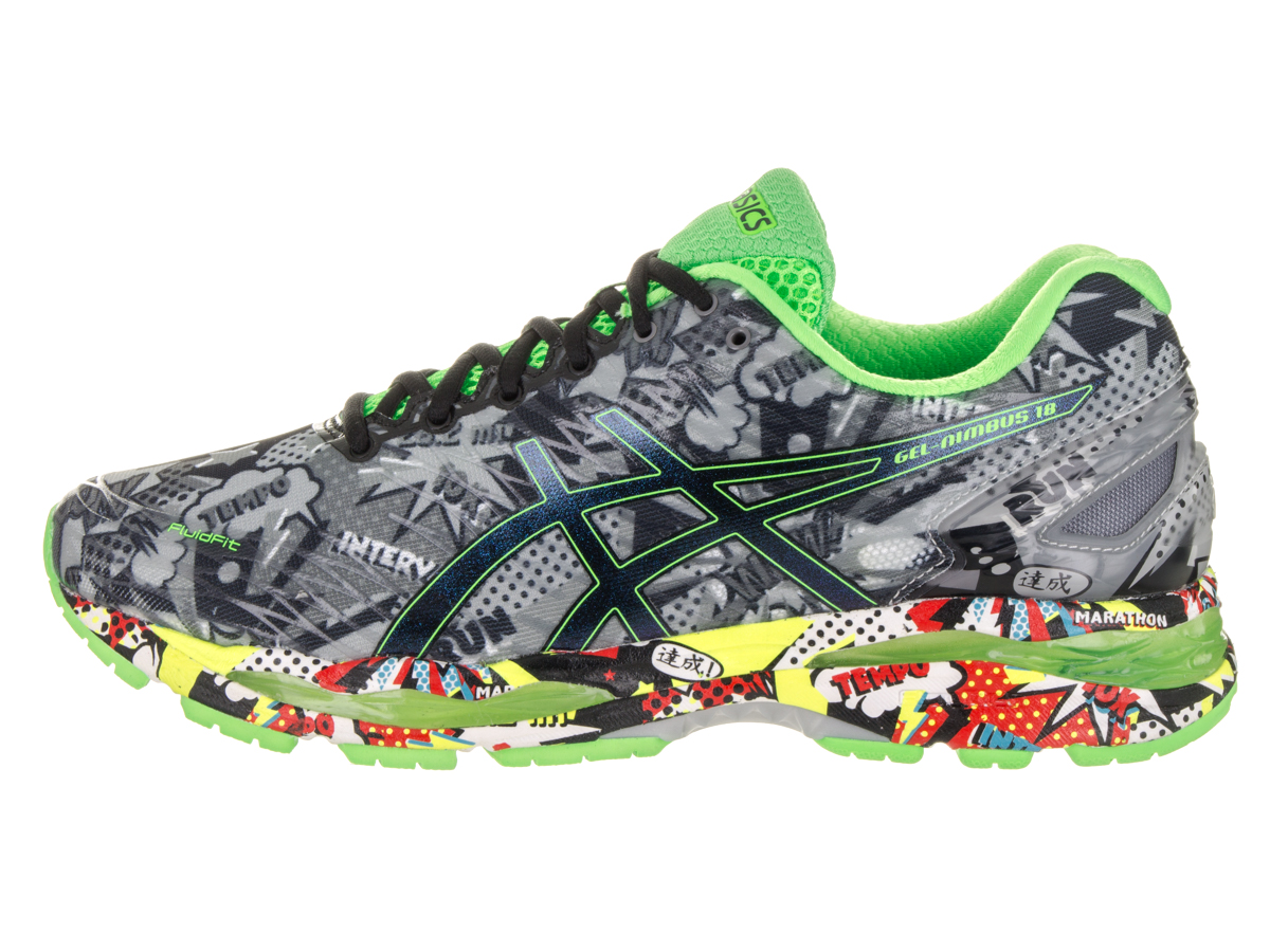 a415e177b7 ASICS - ASICS Men's Gel Nimbus 18 Running Shoes (Carbon/Black/Green ...