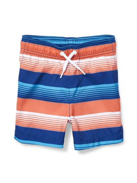 38b0120b64 Product Image The Children's Place Stripe Board Short Swim Trunk (Baby Boys  & Toddler ...