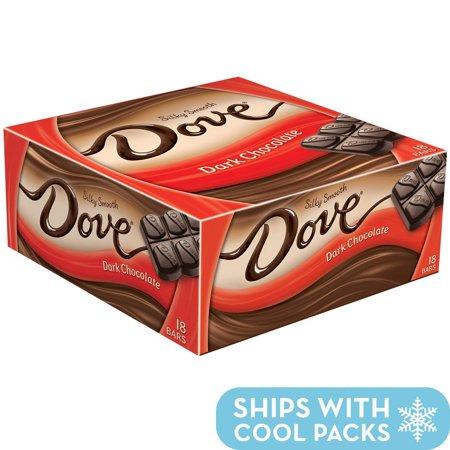 Dove Dark Chocolate Singles Size Candy Bar 1.44-Ounce Bar 18-Count Box 1.44 Ounce (18 Count)