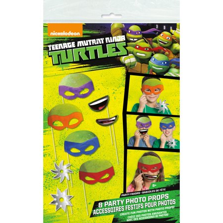 Teenage Mutant Ninja Turtles Photo Booth Props, 8pc - Halloween Photo Booth Printable Props