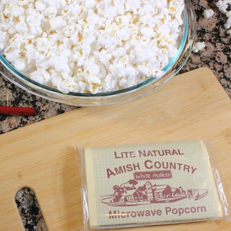 Amish Country Popcorn - Lite Natural (3 Microwave Popcorn Bags) - All  Natural, Gluten Free, and Non GMO