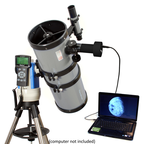"Twinstar 6"" Computerized GPS Reflector Telescope with Camera, Silver by Twinstar"