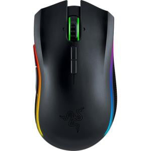 Razer Mamba Mouse Laser Cable Wireless Black USB 2.0 16000 dpi Computer Tilt Wheel 9 Button(s) Right-handed Only MOUSE by RAZER - GAMING