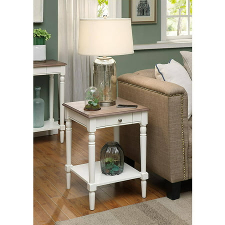 Convenience Concepts French Country End Table with Drawer and Shelf Powell French Country Table