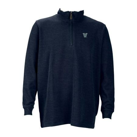 Villanova Mens 1 4 Zip Flat Back Rib Pullover  Color  Navy