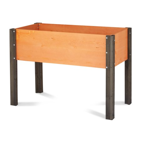 Coral Coast Bloomfield Wood Raised Garden Bed - 40L x 20D x 29H in. ()