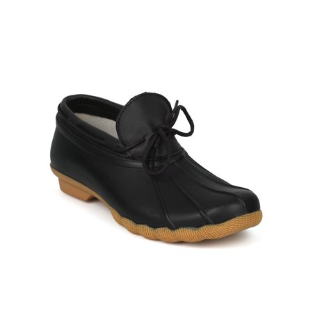 Women Webbed Lace Up Low Top Garden Duck Shoe - HG07 by