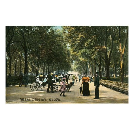 Early Central Park Mall, New York City Print Wall (Woodbury Mall New York)