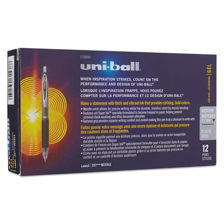Uni-Ball 207 Medium Needle Point Pens, 1 Dozen (Quantity)
