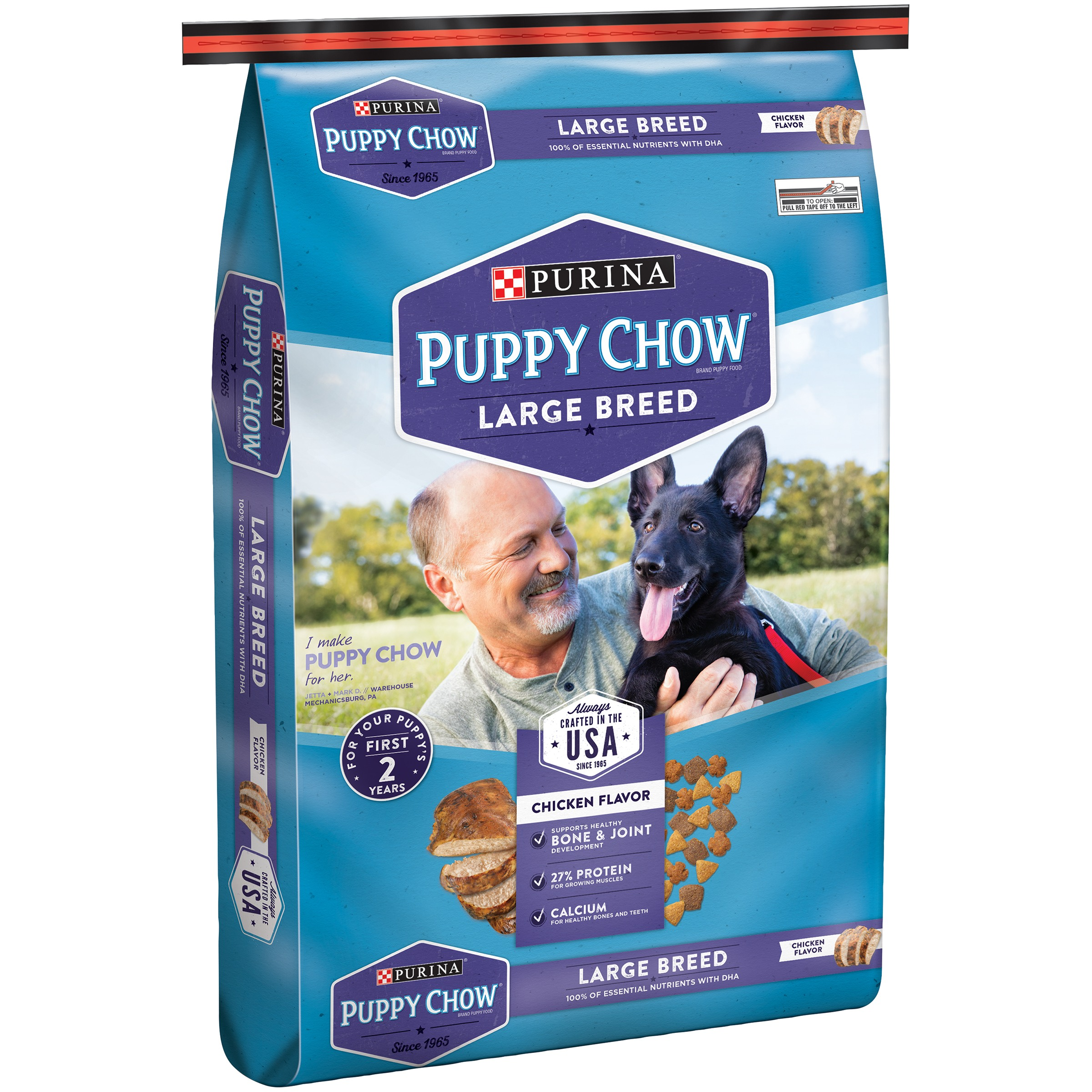 Purina Puppy Chow Large Breed Formula Puppy Food 32 lb. Bag