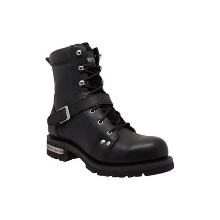 Mens Leather Motorcycle Engineer Boots (AdTec Mens 8