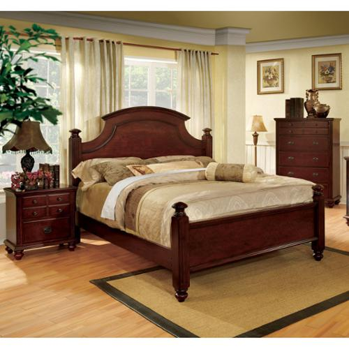 Furniture of America Traditional Cherry 2-piece Poster Bedroom Set ()
