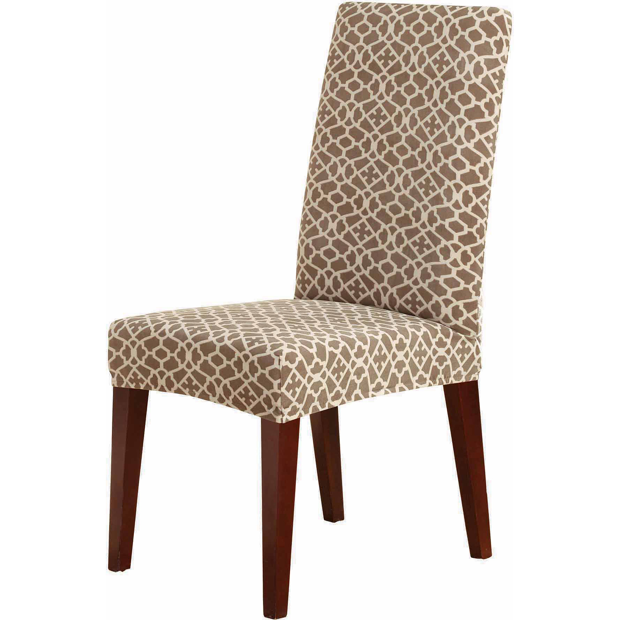 Stretch Dining Room Chair Covers Sure Fit Stretch Ironworks Short Dining Room Chair Slipcover