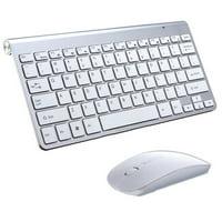 VicTsing 2.4G Wireless Keyboard MINI Waterproof X Structure Compact Keyboard mouse (Black)
