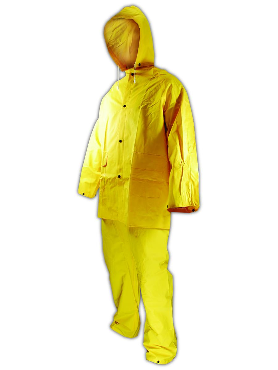 Magid RainMaster 14 mil Vinyl 3-Piece Rain Suit Small, Each
