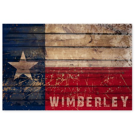 Awkward Styles Texas Star Wimberley Flag TX Poster Wall Decor Texas Souvenirs TX City Flag Unframed Picture for Home Ready to Hang Decor The State of Texas Poster Art Texas Flag Printed Art Decor (Wimberley Tx)