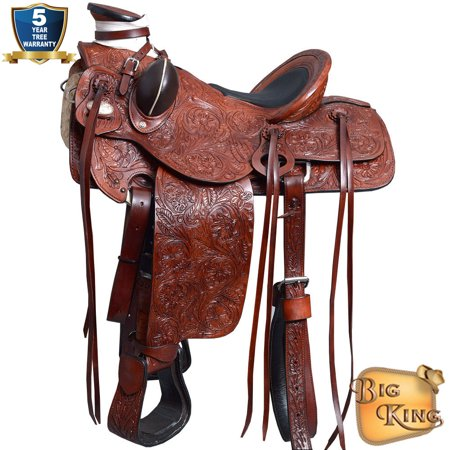 16 Western Horse Saddle Leather Wade Ranch Roping Mahogany By