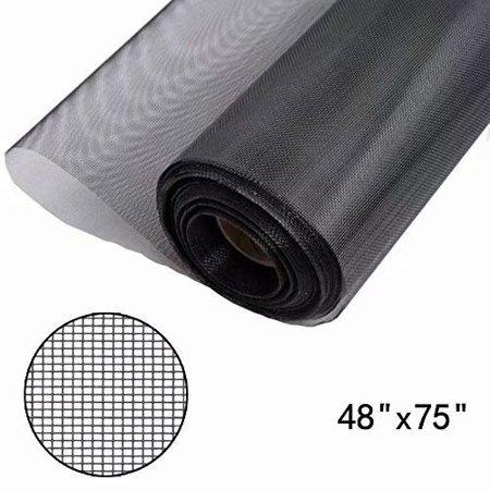 Fiberglass Replacement Screen (Shatex Window Screen Mesh, DIY Fiberglass Screen Replacement Black Mesh Fabric, Moquito/Insect Barrier, Invisible & Fireproof)
