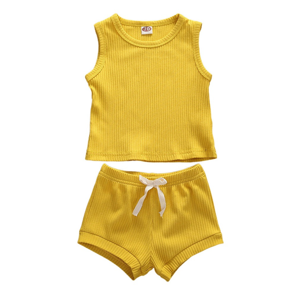 Yellow, 18-24 Months Infant Baby Girl Crop Top T Shirts High Waist Shorts Floral Outfits Clothes Sets