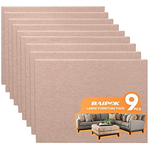 Furniture Pads 9 Pack 8 X 6 1 5, Large Felt Furniture Pads